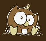 OWLY MEN'S BROWN CLASSIC T-SHIRT