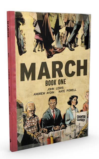 March: Book One -- OVER-SIZED DELUXE HARDCOVER EDITION