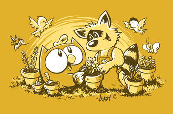 OWLY MEN'S GOLD PLANTING DAY T-SHIRT