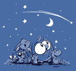 OWLY MEN'S BLUE STARRY NIGHT T-SHIRT