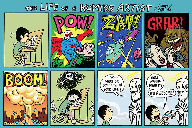 The Life of a Komiks Artist / Top Shelf 2.0: www.topshelfcomix.com/ts2.0/komiks_artist