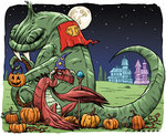 Image for Celebrate Halloween with Rob Harrell's lovable MONSTER ON THE HILL!